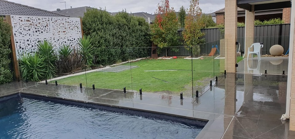 Fibreglass Pool Installation Cranbourne with Glass Fencing