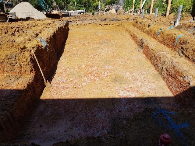 Pool installed on sloping block (Belgrave)
